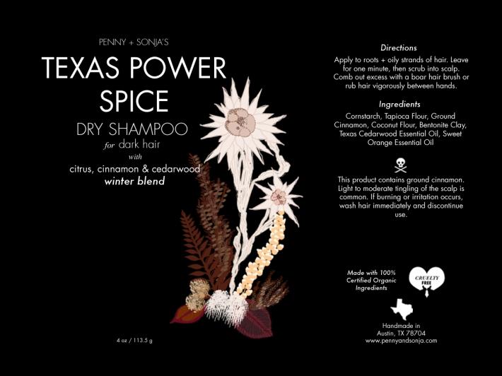 Texas Power Spice Dry Shampoo for dark hair