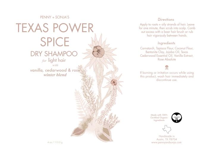 Texas Power Spice Dry Shampoo for light hair